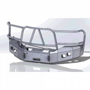 Hammerhead Bumpers - Hammerhead 600-56-0487 X-Series Winch Front Bumper with Full Brush Guard and Sensor Holes for GMC Sierra 1500 2016-2018
