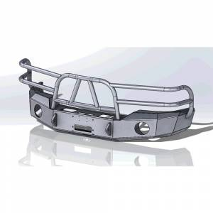 Truck Bumpers - Hammerhead - Hammerhead Bumpers - Hammerhead 600-56-0200 X-Series Winch Front Bumper with Full Brush Guard and Round Light Holes for GMC Sierra 1500 2003-2006