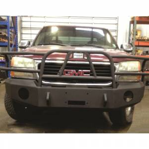 Truck Bumpers - Hammerhead - Hammerhead Bumpers - Hammerhead 600-56-0085Y X-Series Winch Front Bumper with Full Brush Guard and Round Light Holes for GMC Yukon 2000-2006