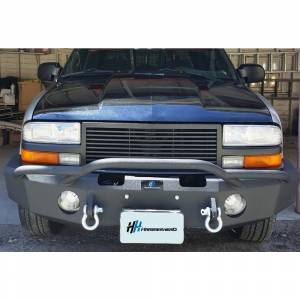 Hammerhead Bumpers - Hammerhead 600-56-0111 Winch Front Bumper with Pre-Runner Guard and Round Light Holes for Chevy Silverado S10 ZR2 1994-2003 - Image 3