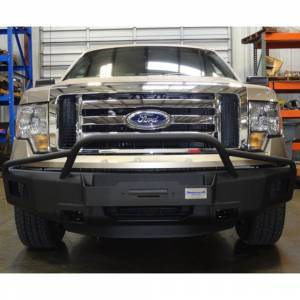 Truck Bumpers - Hammerhead - Hammerhead Bumpers - Hammerhead 600-56-0063 Winch Front Bumper with Pre-Runner Guard and Square Light Holes and Square Light Holes for Ford F150 EcoBoost 2011-2014
