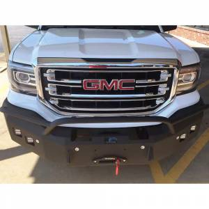 Hammerhead Bumpers - Hammerhead 600-56-0127Y Winch Front Bumper with Pre-Runner Guard and Square Light Holes for GMC Yukon 1992-2000 - Image 2