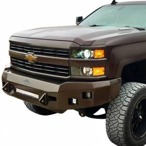 Truck Bumpers - Hammerhead - Hammerhead Bumpers - Hammerhead 600-56-0415 Low Profile Front Bumper with Square Light Holes for Chevy Silverado 2500/3500 2015-2019