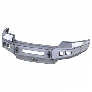 Hammerhead Bumpers - Hammerhead 600-56-0558 Low Profile Front Bumper with Square Light Holes for GMC Sierra 2500/3500 2011-2014