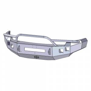 Hammerhead Bumpers - Hammerhead 600-56-0575 Low Profile Front Bumper with Pre-Runner Guard and Square Light Holes for Chevy Silverado 2500/3500 2007-2010