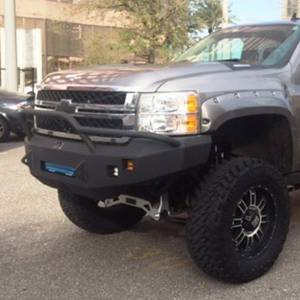 Truck Bumpers - Hammerhead - Hammerhead Bumpers - Hammerhead 600-56-0446 Low Profile Front Bumper with Pre-Runner Guard and Square Light Holes for Chevy Silverado 2500/3500 2011-2014