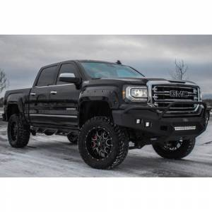 Truck Bumpers - Hammerhead - Hammerhead Bumpers - Hammerhead 600-56-0436 Low Profile Front Bumper with Pre-Runner Guard and Square Light Holes for GMC Sierra 1500 2016-2018