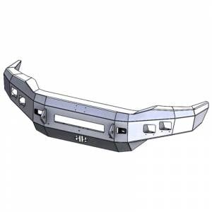 Hammerhead 600-56-0755 Low Profile Front Bumper with Square Light Holes for Ford F250/F350/F450/F550/Excursion 1999-2004