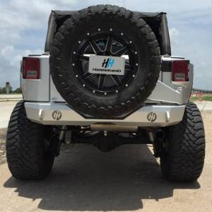 Jeep Wrangler JK - Hammerhead Bumpers - Hammerhead 600-56-0319 Stubby Standard Rear Bumper for Jeep Wrangler JK 2007-2017