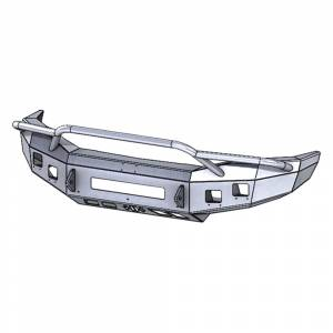 Hammerhead Bumpers - Hammerhead 600-56-0821 Low Profile Front Bumper with Pre-Runner Guard and Square Light Holes for Dodge Ram 2500/3500/4500/5500 2006-2009