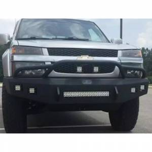 Shop Bumpers By Vehicle - Chevy Colorado - Hammerhead Bumpers - Hammerhead 600-56-0678 Low Profile Fleet Front Bumper with Pre-Runner Guard and Square Light Holes for Chevy Colorado 2003-2012
