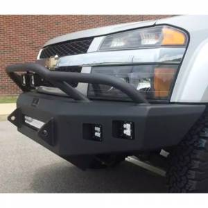 Hammerhead Bumpers - Hammerhead 600-56-0678 Low Profile Fleet Front Bumper with Pre-Runner Guard and Square Light Holes for Chevy Colorado 2003-2012 - Image 2