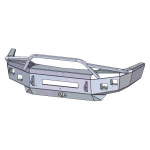 Hammerhead Bumpers - Hammerhead 600-56-0645 Low Profile Fleet Front Bumper with Pre-Runner Guard and Square Light Holes for Chevy Silverado 2500 HD/3500 HD 2003-2006