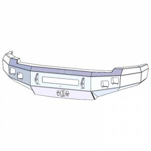 Hammerhead 600-56-0673 Low Profile Front Bumper with Square Light Holes for Chevy Silverado 1500 2007-2013