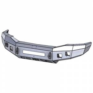 Hammerhead Bumpers - Hammerhead 600-56-0820 Low Profile Front Bumper with Square Light Holes for Dodge Ram 2500/3500/4500/5500 2006-2009