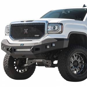 Hammerhead Bumpers - Hammerhead 600-56-0715 Low Profile Front Bumper with Square Light Holes for GMC Sierra 1500 2016-2018
