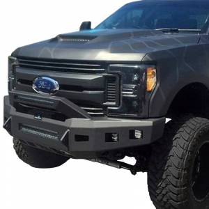 Hammerhead Bumpers - Hammerhead 600-56-0894 Low Profile Front Bumper with Formed Guard and Square Light Holes for Chevy Silverado 2500HD/3500 2015-2019