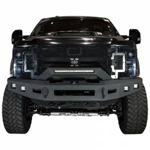 Hammerhead Bumpers - Hammerhead 600-56-0730 Low Profile Front Bumper with Formed Guard and Square Light Holes for Ford F250/F350/F450/F550 2017-2020