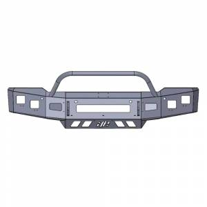 Hammerhead Bumpers - Hammerhead 600-56-0843 Low Profile Front Bumper with Pre-Runner Guard and Square Light Holes for Chevy Silverado 1500 2019-2020