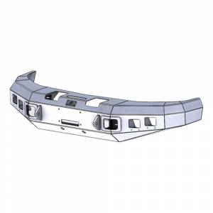 Hammerhead 600-56-0137 Winch Front Bumper with Square Light Holes for Dodge Ram 2500/3500 1994-2002