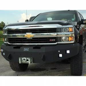 Hammerhead Bumpers - Hammerhead 600-56-0134 Winch Front Bumper with Square Light Holes for Chevy Silverado 1500 2007-2013