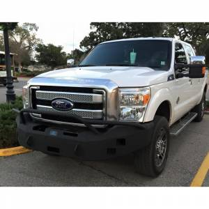 Ford F250/F350 Super Duty - Ford Superduty 2011-2016 - Hammerhead Bumpers - Hammerhead 600-56-0158 Winch Front Bumper with Pre-Runner Guard and Square Light Holes for Ford F250/F350/F450/F550 2011-2016