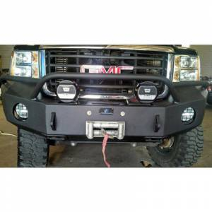 Hammerhead Bumpers - Hammerhead 600-56-0163 Winch Front Bumper with Pre-Runner Guard and Square Light Holes for GMC Sierra 2500/3500 2007-2010 - Image 2