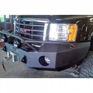 Hammerhead Bumpers - Hammerhead 600-56-0163 Winch Front Bumper with Pre-Runner Guard and Square Light Holes for GMC Sierra 2500/3500 2007-2010 - Image 3