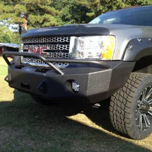Hammerhead Bumpers - Hammerhead 600-56-0164 Winch Front Bumper with Pre-Runner Guard and Square Light Holes for GMC Sierra 2500/3500 2011-2014 - Image 1