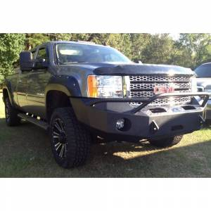 Hammerhead Bumpers - Hammerhead 600-56-0164 Winch Front Bumper with Pre-Runner Guard and Square Light Holes for GMC Sierra 2500/3500 2011-2014 - Image 2