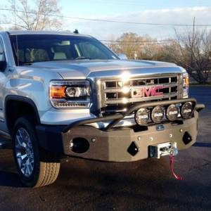 Hammerhead Bumpers - Hammerhead 600-56-0218 Winch Front Bumper with Pre-Runner Guard and Sensor Holes for GMC Sierra 1500 2014-2015