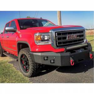 Hammerhead Bumpers - Hammerhead 600-56-0357 Winch Front Bumper with Square Light Holes for GMC Sierra 2500/3500 2011-2014 - Image 1