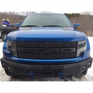 Shop Bumpers By Vehicle - Ford Excursion - Hammerhead Bumpers - Hammerhead 600-56-0380 Winch Front Bumper with Square Light Holes for Ford F250/F350/F450/F550/Excursion 2005-2007