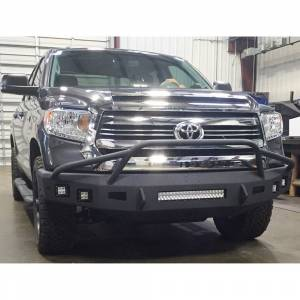 Toyota Tundra - Toyota Tundra 2014-2020 - Hammerhead Bumpers - Hammerhead 600-56-0432 Low Profile Non-Winch Front Bumper with Pre-Runner Guard and Square Light Holes for Toyota Tundra 2014-2020
