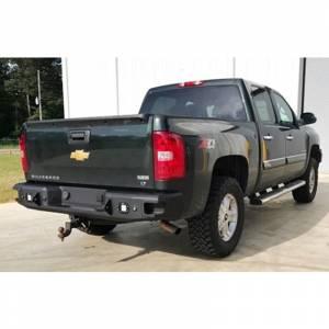 Hammerhead 600-56-0523 Flush Mount Rear Bumper with Sensor Holes for Chevy Silverado/GMC Sierra 1500 2007-2013