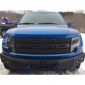Truck Bumpers - Hammerhead - Hammerhead Bumpers - Hammerhead 600-56-0457 Winch Front Bumper with Square Light Holes for Ford F150 Bronco/F250/F350/F450 1992-1998