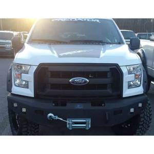 Truck Bumpers - Hammerhead - Hammerhead Bumpers - Hammerhead 600-56-0156 Winch Front Bumper with Square Light Holes for Ford F250/F350/F450/F550/Excursion 1999-2004