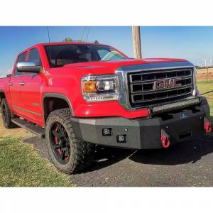 Truck Bumpers - Hammerhead - Hammerhead Bumpers - Hammerhead 600-56-0393 Winch Front Bumper with Square Light Holes for GMC Sierra 1500 2007-2013