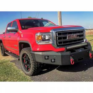 Truck Bumpers - Hammerhead - Hammerhead Bumpers - Hammerhead 600-56-0273 Winch Front Bumper with Square Light Holes and Sensor Holes for GMC Sierra 2500/3500 2015-2019