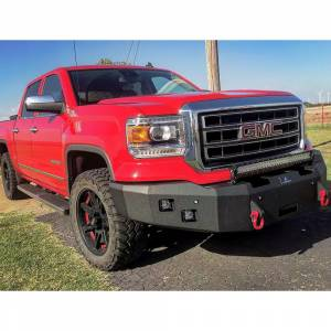 Truck Bumpers - Hammerhead - Hammerhead Bumpers - Hammerhead 600-56-0185Y Winch Front Bumper with Square Light Holes for GMC Yukon 1992-2000