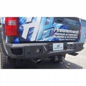 Hammerhead 600-56-0492 Rear Bumper with Sensor Holes and Round Reverse Light for Chevy Silverado 1500 2007-2013