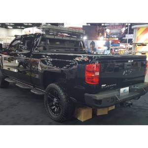 GMC Sierra 2500/3500 - GMC Sierra 2500/3500HD 2015-2019 - Hammerhead Bumpers - Hammerhead 600-56-0272-RAW Rear Bumper with Sensor Holes for Chevy Silverado and GMC Sierra 2500HD/3500 2015-2019