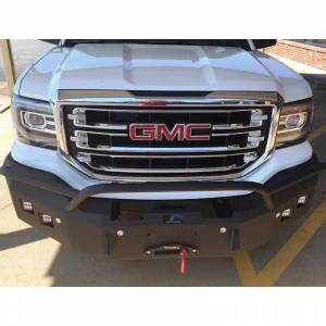 Truck Bumpers - Hammerhead - Hammerhead Bumpers - Hammerhead 600-56-0194YNG Front Bumper with Round Light Holes for GMC Sierra/Yukon 1500 1999-2006