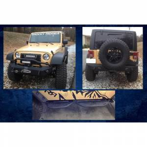 Jeep Bumpers - Hammerhead - Hammerhead Bumpers - Hammerhead 600-56-0247 Stubby Cab Length 4-Door Running Board for Jeep Wrangler JK 2007-2017