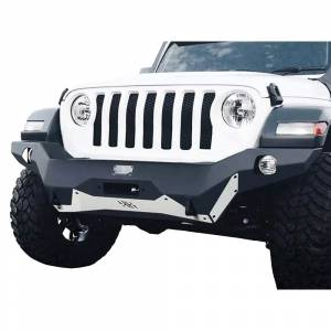 Shop Bumpers By Vehicle - Jeep Wrangler JL - Hammerhead Bumpers - Hammerhead 600-56-0788 Ravager Full Width Winch Front Bumper with Round Light Holes for Jeep Wrangler JL 2018-2020