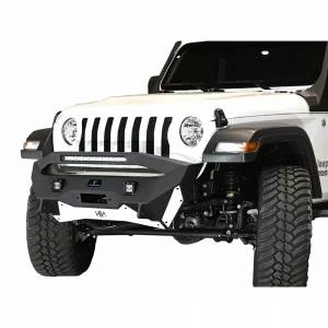 Shop Bumpers By Vehicle - Jeep Wrangler JL - Hammerhead Bumpers - Hammerhead 600-56-0774 Ravager Winch Front Bumper with Stubby Bar Jeep Gladiator JT 2020-2021