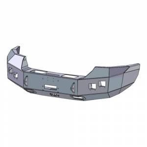 Hammerhead Bumpers - Hammerhead 600-56-0732 Winch Front Bumper with Square Light Holes for GMC Sierra 2500/3500 2007-2010