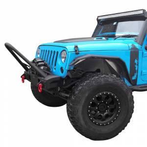 Jeep Bumpers - Hammerhead - Hammerhead Bumpers - Hammerhead 600-56-0696 Minimalist Stinger Front Bumper and OEM Fog Holes for Jeep Wrangler JK 2007-2017