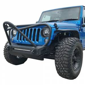 Jeep Bumpers - Hammerhead - Hammerhead Bumpers - Hammerhead 600-56-0685 Minimalist Stinger Front Bumper with Full Brush Guard for Jeep Wrangler JK 2007-2017