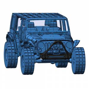 Jeep Bumpers - Hammerhead - Hammerhead Bumpers - Hammerhead 600-56-0700 Minimalist Stinger Front Bumper for Jeep Wrangler JK 2007-2017